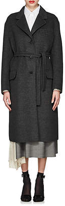 Prada Women's Virgin Wool-Blend Long Coat - Gray