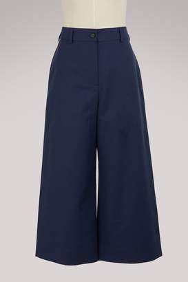 Kenzo Wide cotton culotte pants