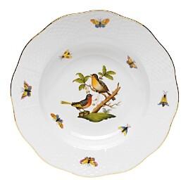 Rothschild Bird Rimmed Soup Bowl, Motif #8
