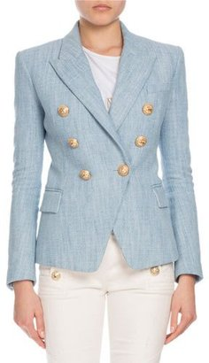 Balmain Double-Breasted Tweed Blazer $1,885 thestylecure.com