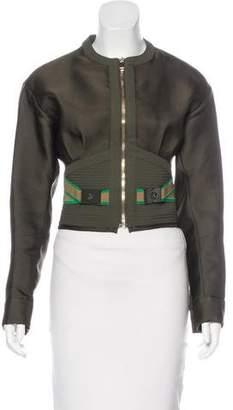 Versace Cropped Zip-Up Jacket