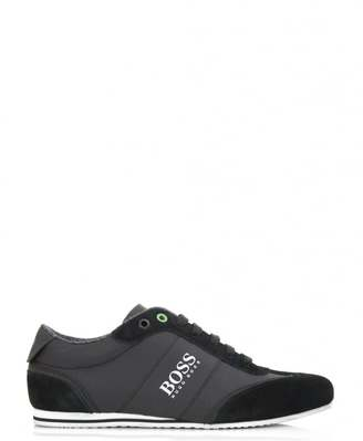Hugo Boss Green Lighter Low Suede Rubber Coated Trainers