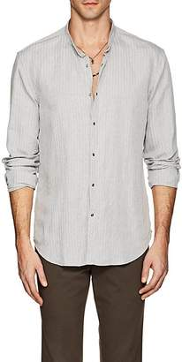 John Varvatos Men's Raised-Stripe Slub-Weave Slim Shirt