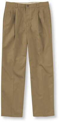 L.L. Bean L.L.Bean Wrinkle-Free Double L Chinos, Natural Fit Pleated