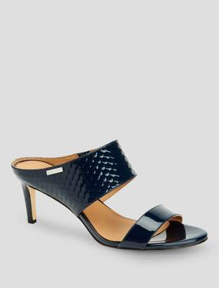 Calvin Klein cecily patent leather heel mule sandal