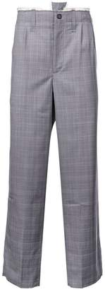 Camiel Fortgens checked wide-leg trousers
