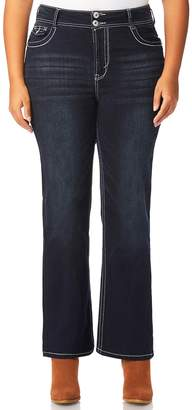Juniors' Plus Size Wallflower Curvy Bling Bootcut Jeans