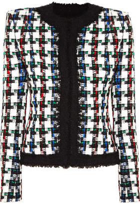 Balmain Metallic Checked Tweed Jacket - Black