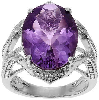 FINE JEWELRY Genuine Amethyst Sterling Silver Ring