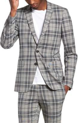Topman Skinny Fit Plaid Suit Jacket