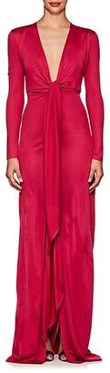 Givenchy Women's Tie-Front Jersey Gown