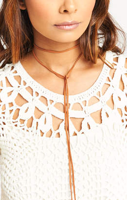 Show Me Your Mumu Turquoise & Tobacco ~ El Diablo Lariat Necklace ~ Tobacco