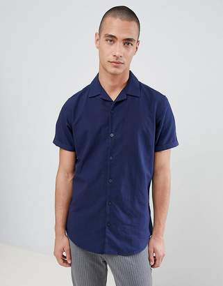 Selected Short Sleeve Revere Collar Shirt