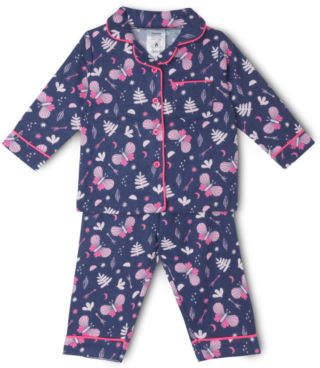 Sprout NEW Girls Flannelette Set Navy