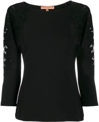 Ermanno Scervino slim-fit lace embroidery top