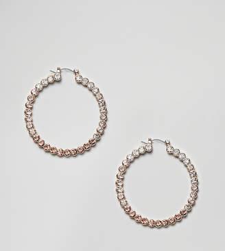 Aldo champagne embellished hoops earrings