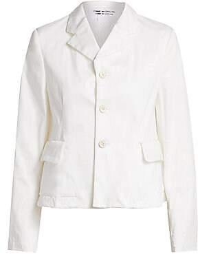 54b6ad17fa16 Comme des Garcons Women's Poplin Three-Button Blazer