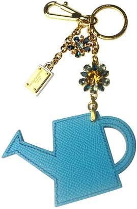 Dolce & Gabbana Blue Leather Bag charms