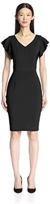 Society New York Women's Ruffle Sleeve Sheath Dress