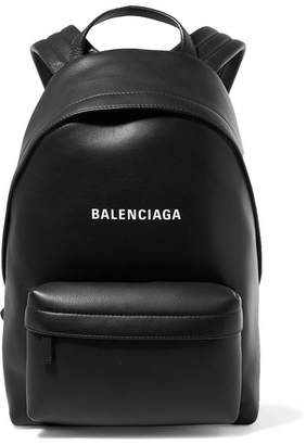 Balenciaga Everyday Printed Leather Backpack - Black