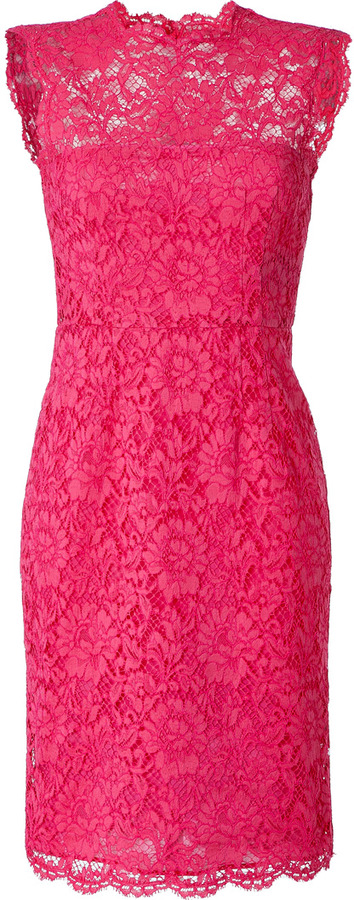 Valentino Hot Pink Lace Dress