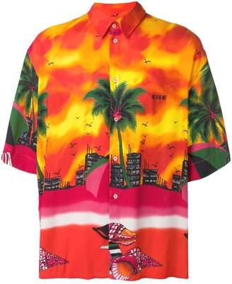 MSGM tropical-print shirt