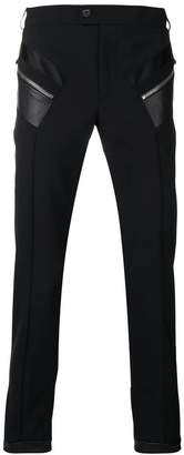 Les Hommes zip patch tailored trousers