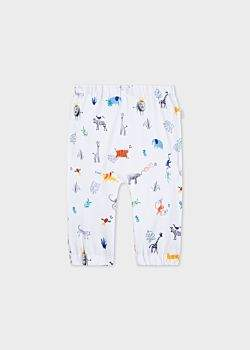 Paul Smith Baby Boys' 'Animals' Print Reversible Trousers