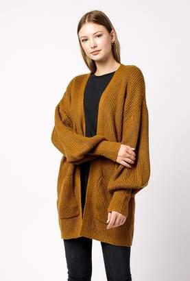 Azalea Open Balloon Sleeve Cardigan Sweater