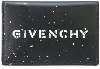 Givenchy logo splatter card holder