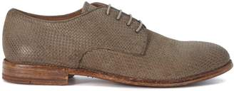 Moma Woven Leather Dark Beige Lace Up Shoes