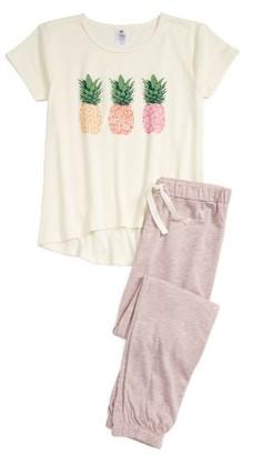 Girl's Tucker + Tate Pineapple Two-Piece Pajamas $39 thestylecure.com