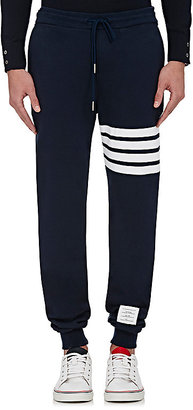 Thom Browne Men's Block-Striped Cotton Sweatpants $570 thestylecure.com