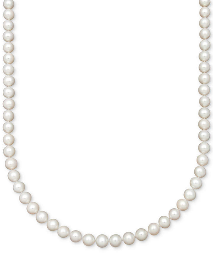 Belle de Mer AA 18and#034; Cultured Freshwater Pearl Strand Necklace (7-1/2-8-1/2mm)