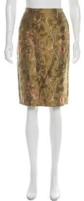 Ralph Lauren Black Label Silk Jacquard Skirt
