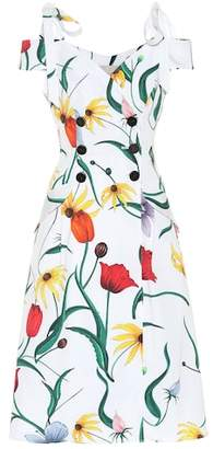 Carolina Herrera Floral cotton-blend trench dress