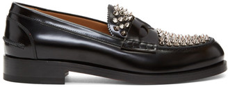 Christian Louboutin Black Montezupik Moccasin Loafers