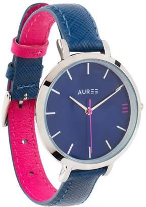 Auree Jewellery - Montmartre Silver Watch with Royal Blue & Hot Pink Strap