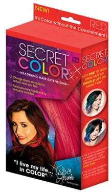 JML Secret Colour Colourful Easy To Insert Hair Extensions (Red)