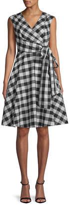 Calvin Klein Gingham Wrap Dress