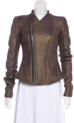 Rick Owens Metallic Shearling Jacket
