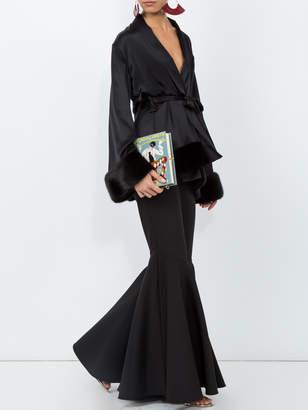 Cinque Short oriental black robe