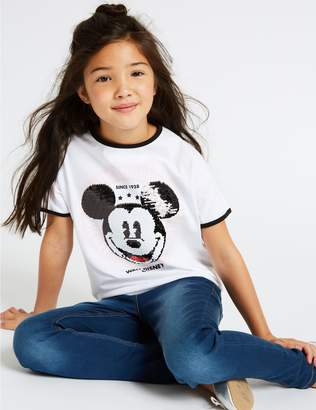 Marks and Spencer Mickey Mouse T-Shirt (3-16 Years)