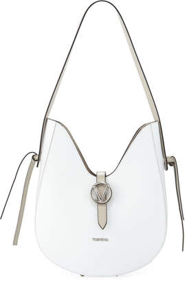 Mario Valentino Valentino By Anny Soave Leather Dip-Top Shoulder Bag