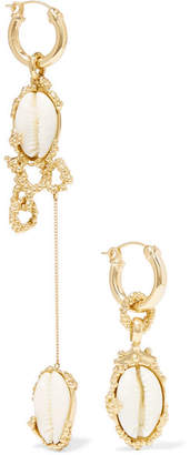 Nalani Gold-plated, Resin And Shell Earrings