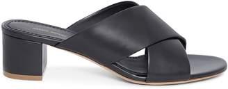 Mansur Gavriel Calf 40mm Crossover Sandal - Black