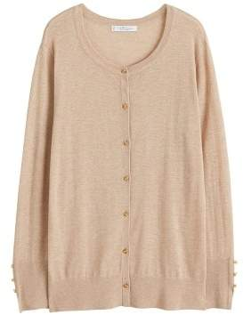 MANGO Violeta BY Buttons speckled cardigan
