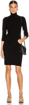 Helmut Lang Compact Wool Dress in Black | FWRD