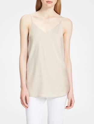 Calvin Klein charmeuse v-neck sleeveless top