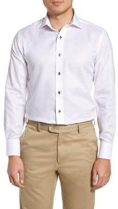 Lorenzo Uomo Trim Fit Textured Dress Shirt